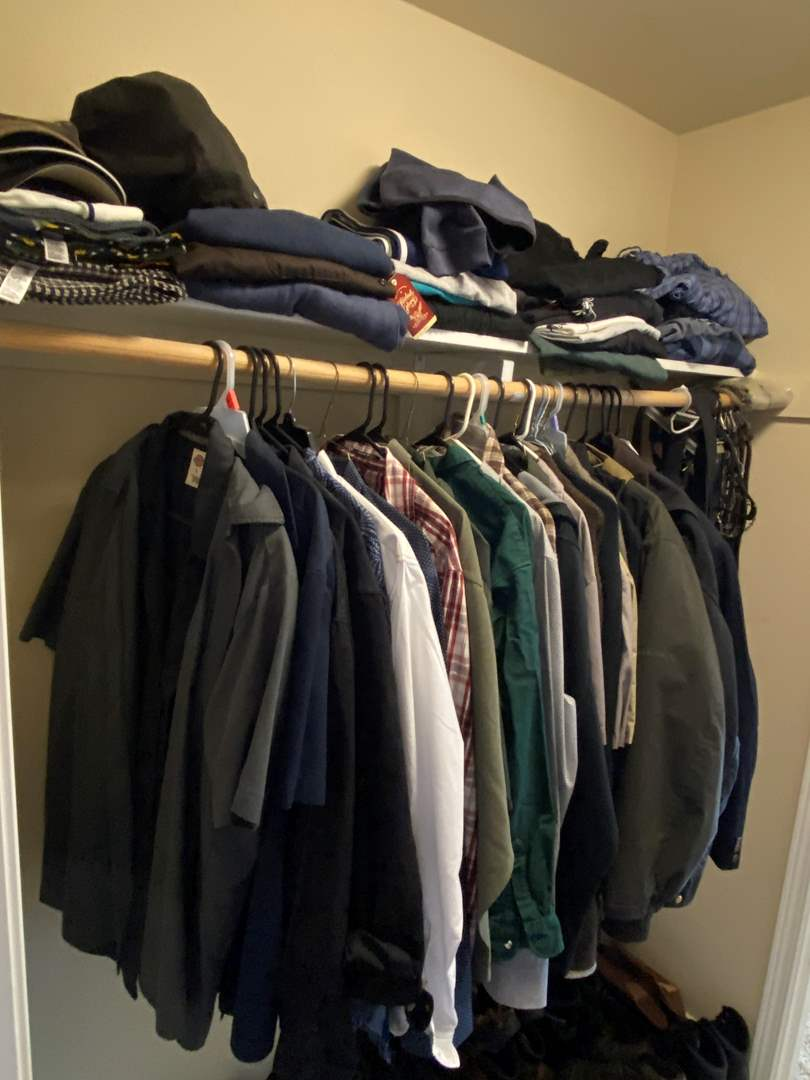 Lot # 164 - Closet Full of Men's Clothing - (See Pictures for Sizes & Brands) (main image)
