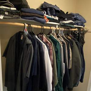 Lot # 164 - Closet Full of Men's Clothing - (See Pictures for Sizes & Brands)