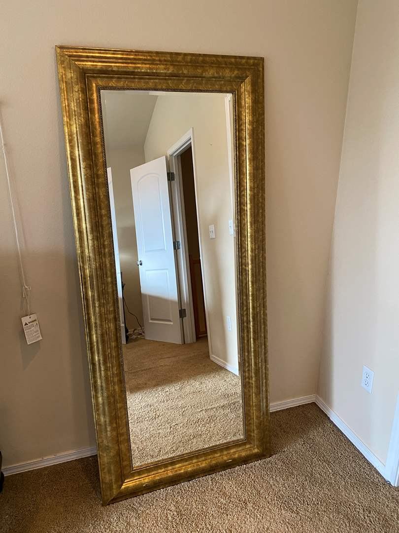 Lot # 165 - Large Wood Framed Mirror From Ikea (Levanger) (main image)