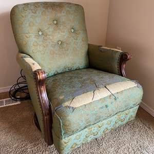 Lot # 171 - Antique Rocking & Swiveling Armchair