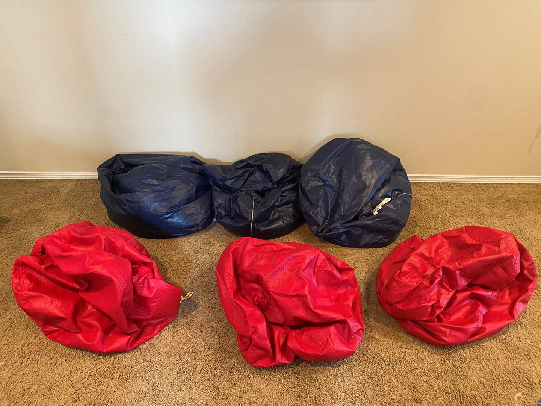 Lot # 184 - Six Beanbag Chairs (main image)