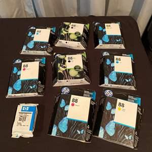 Lot # 193 - Nine Packs of HP 88 Printer Ink Cartridges