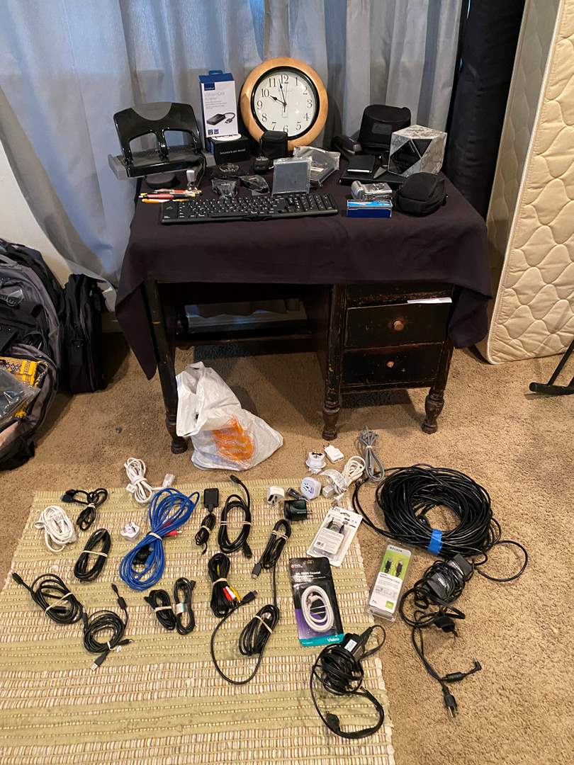 Lot # 199 - Bose Earbuds, Fuji-Film Camera, Office Supplies, HDMI Cords, Ethernet Cords, New Items & More (main image)
