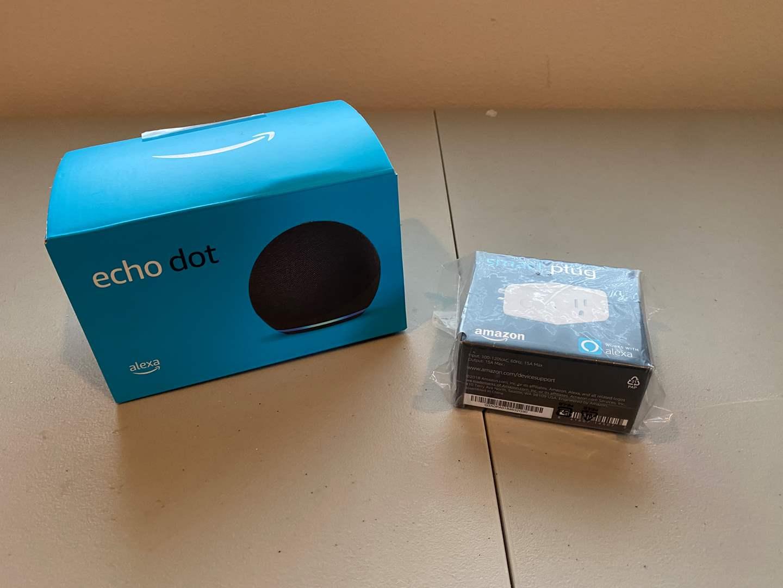Lot # 222 - New Amazon 4th Gen Echo Dot, Amazon Smart Plug (main image)