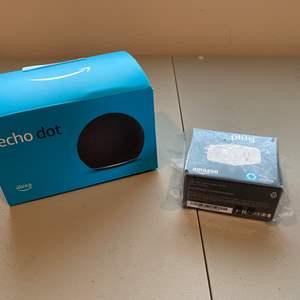 Lot # 222 - New Amazon 4th Gen Echo Dot, Amazon Smart Plug