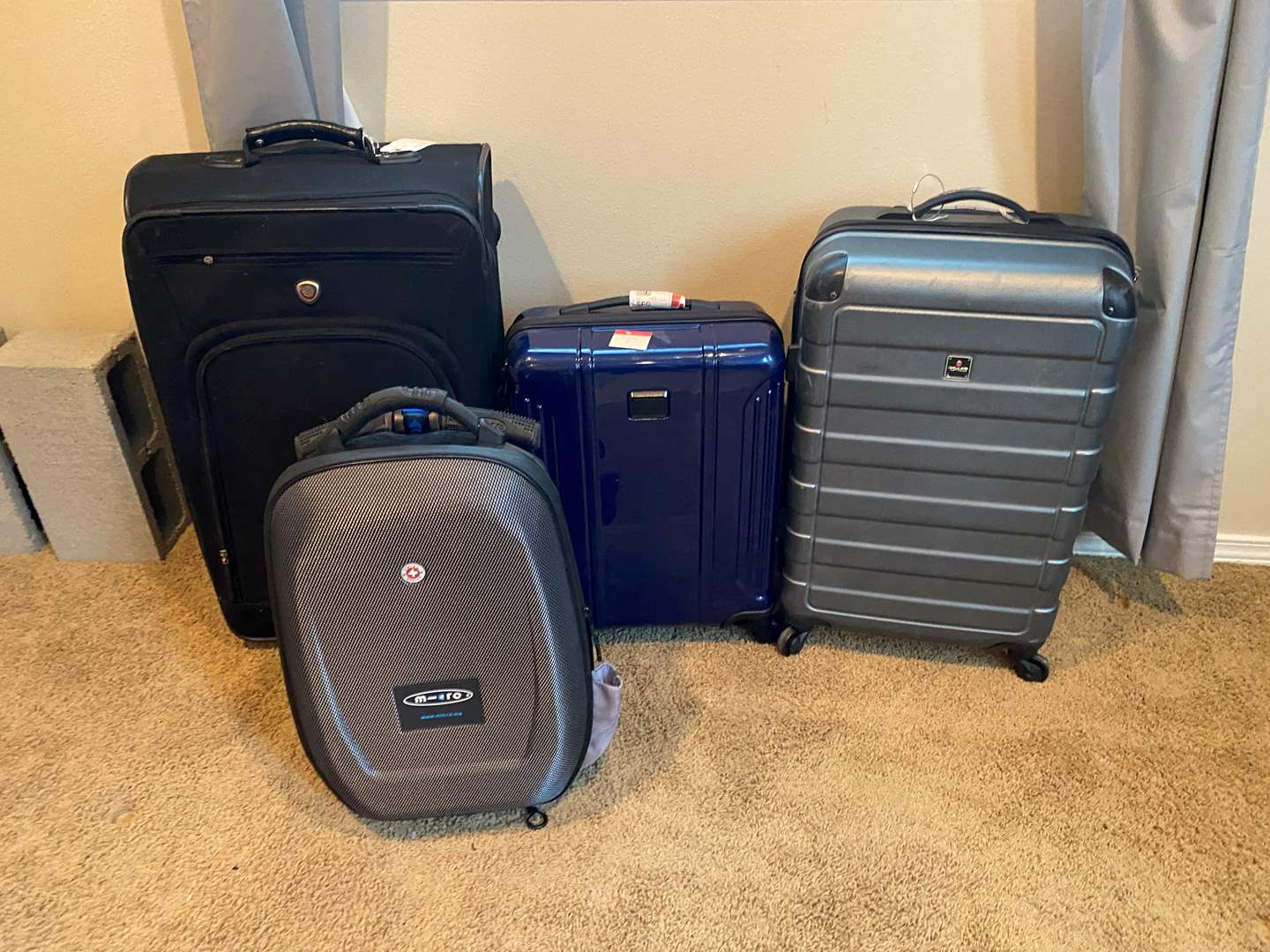 Lot # 224 - Luggage: Swiss Made Micro Suitcase Scooter, Three other Pieces of Luggage - (See Pictures) (main image)