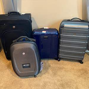Lot # 224 - Luggage: Swiss Made Micro Suitcase Scooter, Three other Pieces of Luggage - (See Pictures)