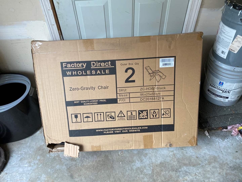 Lot # 237 - New in Box Zero Gravity Chair (main image)