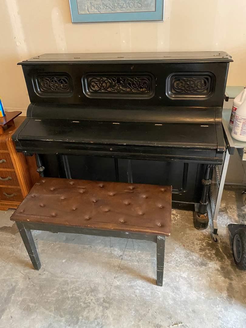 Lot # 244 - Vintage/Antique Mathushek Upright Piano (main image)