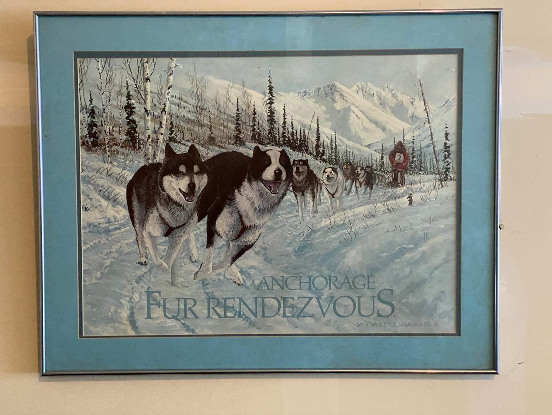 Lot # 245 - Anchorage Fur Rendezvous Alaskan Signed Print by Jon Vanzyle '88 (main image)