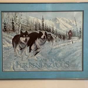 Lot # 245 - Anchorage Fur Rendezvous Alaskan Signed Print by Jon Vanzyle '88