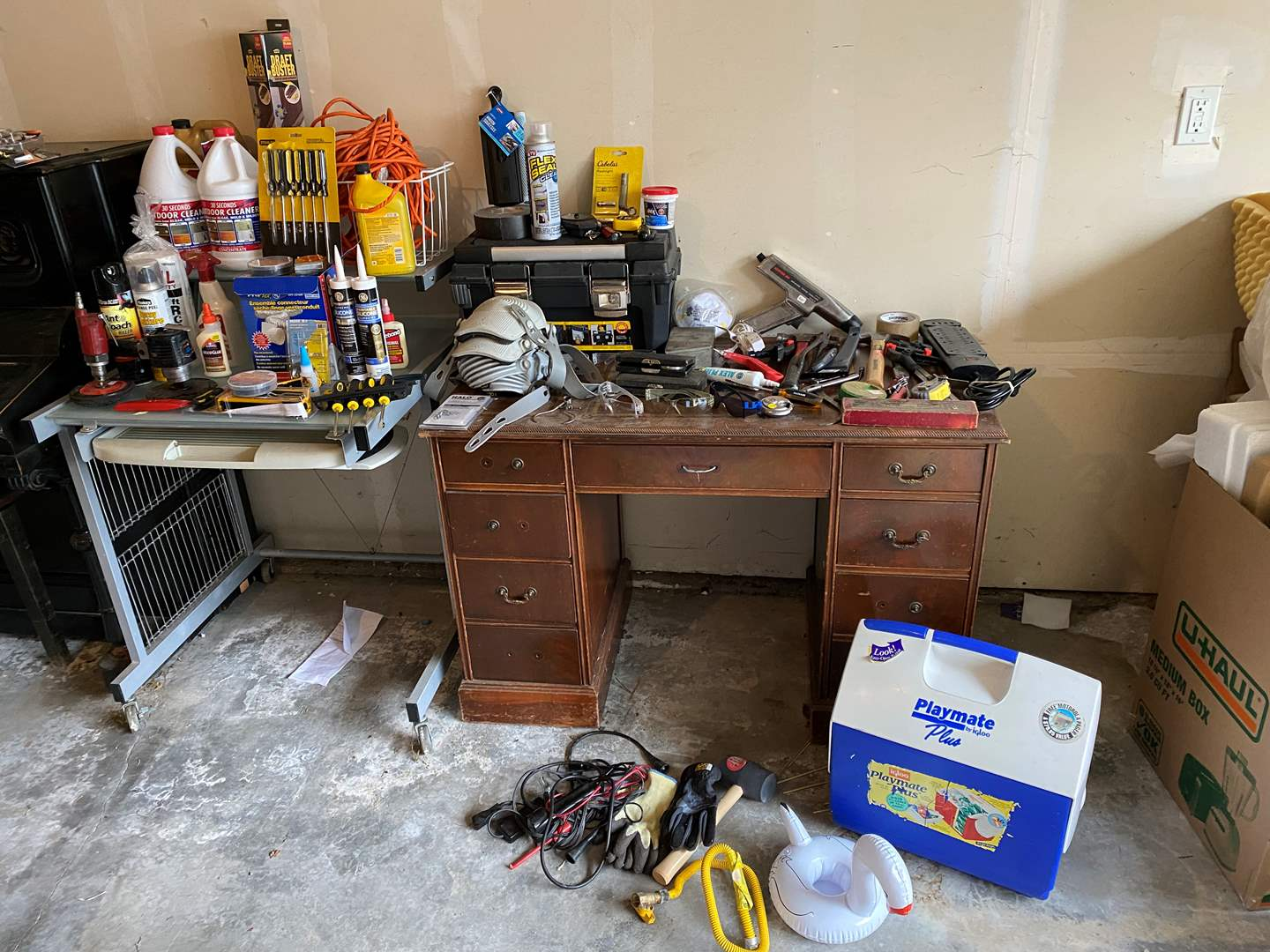 Lot # 248 - Selection of Tools: Some New, Air Tools, Screw Drivers, Chemicals, Hardware & More (main image)