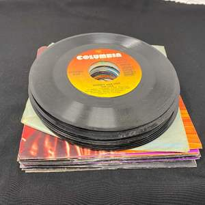Lot # 7 - Collection of 45's - (See Pictures for Titles)