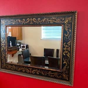 Lot # 108 - Nice Large Wood Framed Mirror