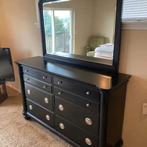 "Lot # 167 - ""Klaussner"" Six Drawer Dresser w/ Mirror"