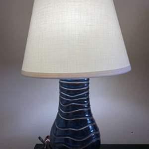 "Lot # 170 - Blue 31"" Ceramic Lamp w/ Shade"