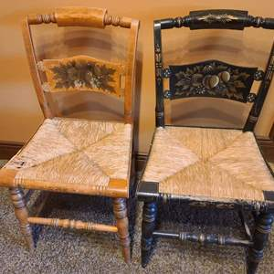 Lot # 14 Antique Hitchcock Cane Chairs
