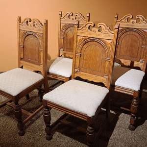 Lot # 33 Vintage Drexel Solid Wood Dining Chairs