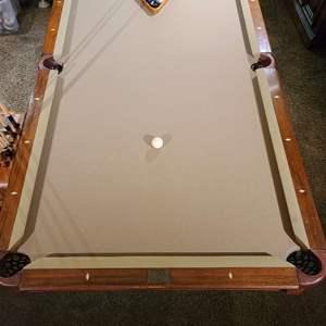 Lot # 50 American Classic Billiard Co. Pool Table & Accessories