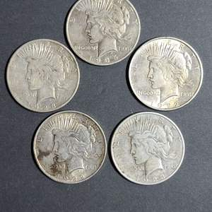 Lot # 54 Peace Silver Dollar Coins- Will Ship