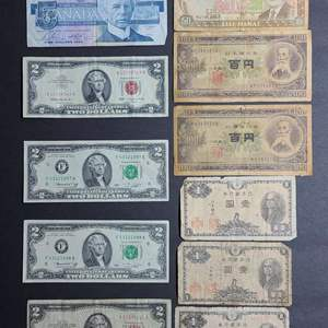 Lot # 59 Assorted Paper Currency- Will Ship