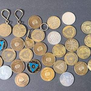 Lot # 62 AA Sobriety Tokens- Will Ship