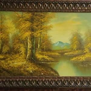 Lot # 74 VTG Oil On Canvas by Chardin