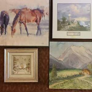 Lot # 80 Assorted Country Style Art