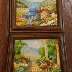 Lot # 81 Framed Original Oil On Canvas Pair