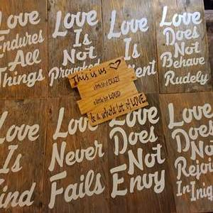 Lot # 82 Love Signs- Home/Wedding Decor