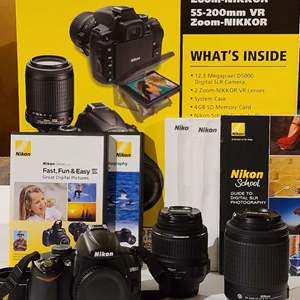 Lot # 84 Nikon D5000 w/Lenses & Accessories