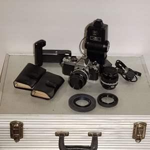 Lot # 86 Nikon SLR Camera, Lenses, Case & Accessories