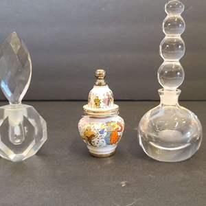Lot # 99 Glass Perfume Bottles