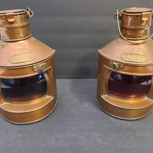 Lot # 100 Vintage Ship Lanterns