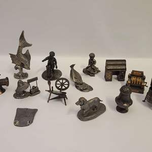Lot # 103 Pewter Figures & More