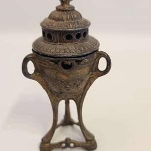 Lot # 106 Antique France Depose Fireside Incense Burner