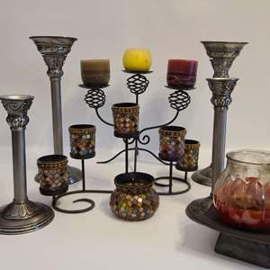 Lot # 107 Assorted Candle Holders