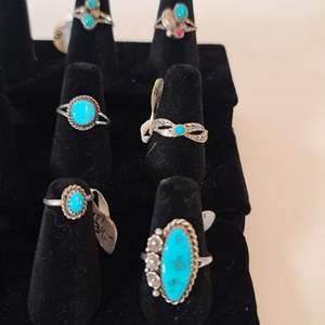 Lot # 121 Women's Navajo Silver & Turquoise Rings