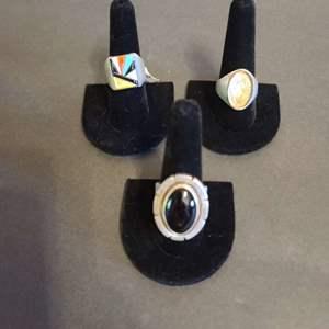 Lot # 135 Men's Sterling Navajo Rings