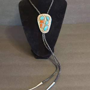 Lot # 149 Zuni Bolo Tie Sterling & Turquoise