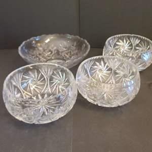 Lot # 155  Crystal Bowls