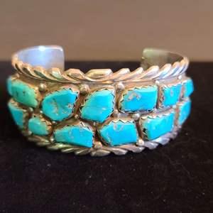 Lot # 157 Women's Sterling & Turquoise Bracelet