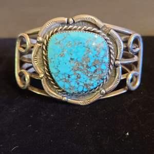 Lot # 159 Sterling & Turquoise Bracelet