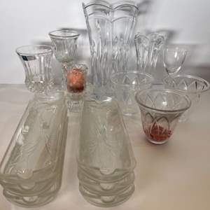 Lot # 182 crystal glass