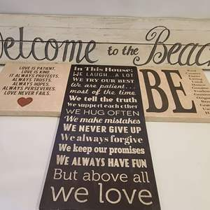 Lot # 192 Home Decor Signs