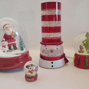 Lot # 203 Christmas Snowglobes