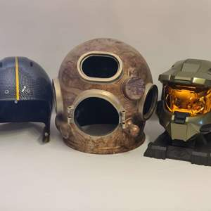 Lot # 209 Unique Decorative Helmets?