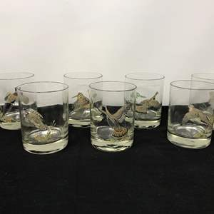 Lot # 53 - Glasses w/Various Birds By Ned Smith