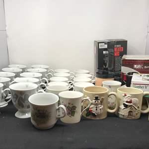 Lot # 56 - Lot Of Coffee Mugs & Mug Warmers