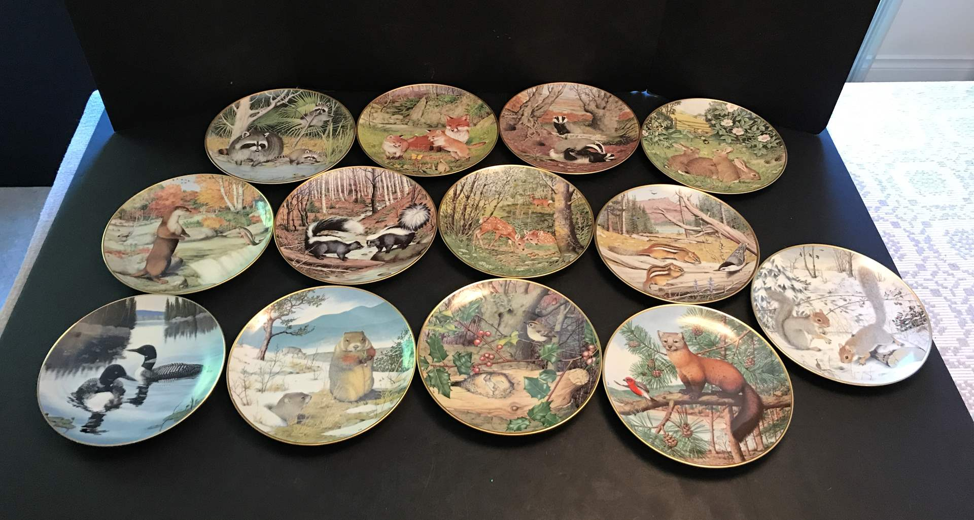 """Lot # 72 - Collection Of Franklin Porcelain Collectors Plates """"The Woodland Year"""" (main image)"""